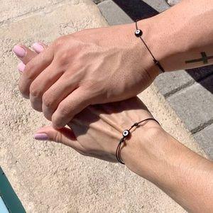 Unisex 2 pcs evil eye friendship bracelet